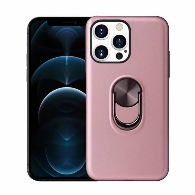 """Smart iPhone 13 Pro Max cover 6,7"""" med 360° stand og magnet - Rose Gold"""