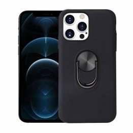 """Smart iPhone 13 Pro cover 6,1"""" med 360° stand og magnet - Sort"""