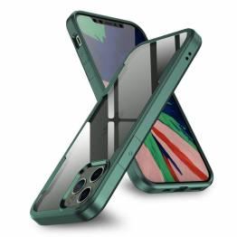 """Freelander iPhone 12 / 12 Pro 6,1"""" stødsikkert cover - Grøn kant"""