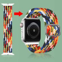 Apple Watch justerbar elastisk flettet rem 38/40 mm - Rainbow