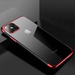 Clear Color cover til iPhone 12 mini - rød