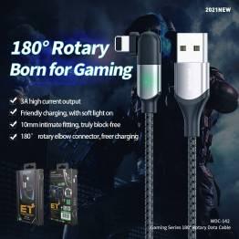WEKOME USB til Lightning kabel med 180 grader roterende Lightning stik