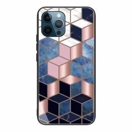 """iPhone 13 Pro cover 6,1"""" med marmor mønster - Blå/rosa/sort"""