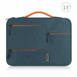 """Haweel Macbook 13"""" sleeve i blødt vandafvisende stof - Blå"""