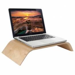 Macbook og skærmstander i træ