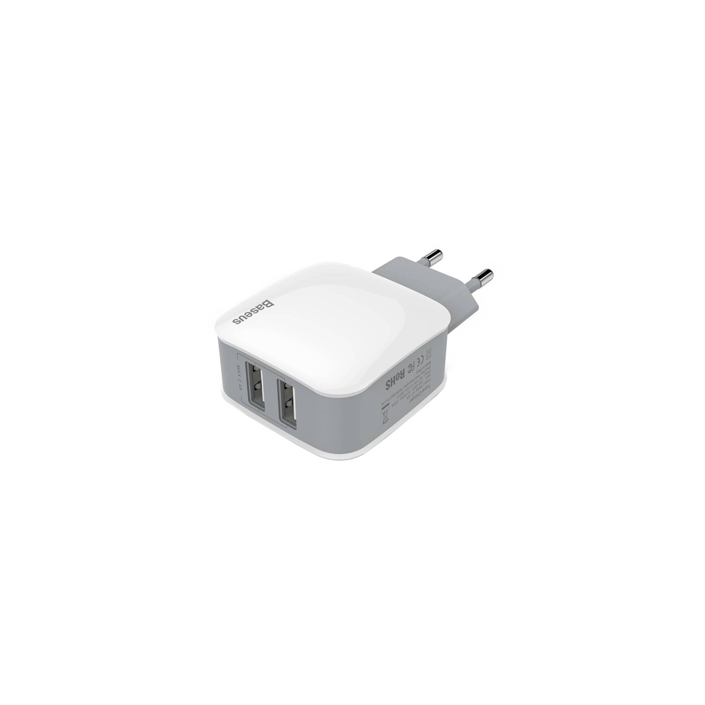 baseus Baseus iphone/ipad usb oplader 2.4a x2 (12w) på mackabler.dk