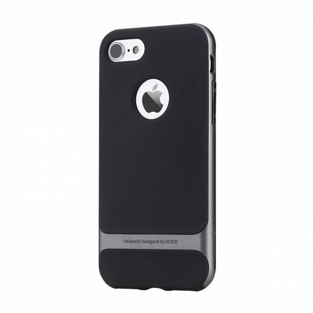 ROCK royce cover til iPhone 7 & 8 - Lækkert cover fra mærket ROCK. ROCK er kendt for at lave produkter i god kvalitet. Det er et meget stilrent cover som kan bruges til alle lejligheder. Coveret er i en flot sort farve, men den plastikramme som er på kan fås i flere forskellige farver, alt