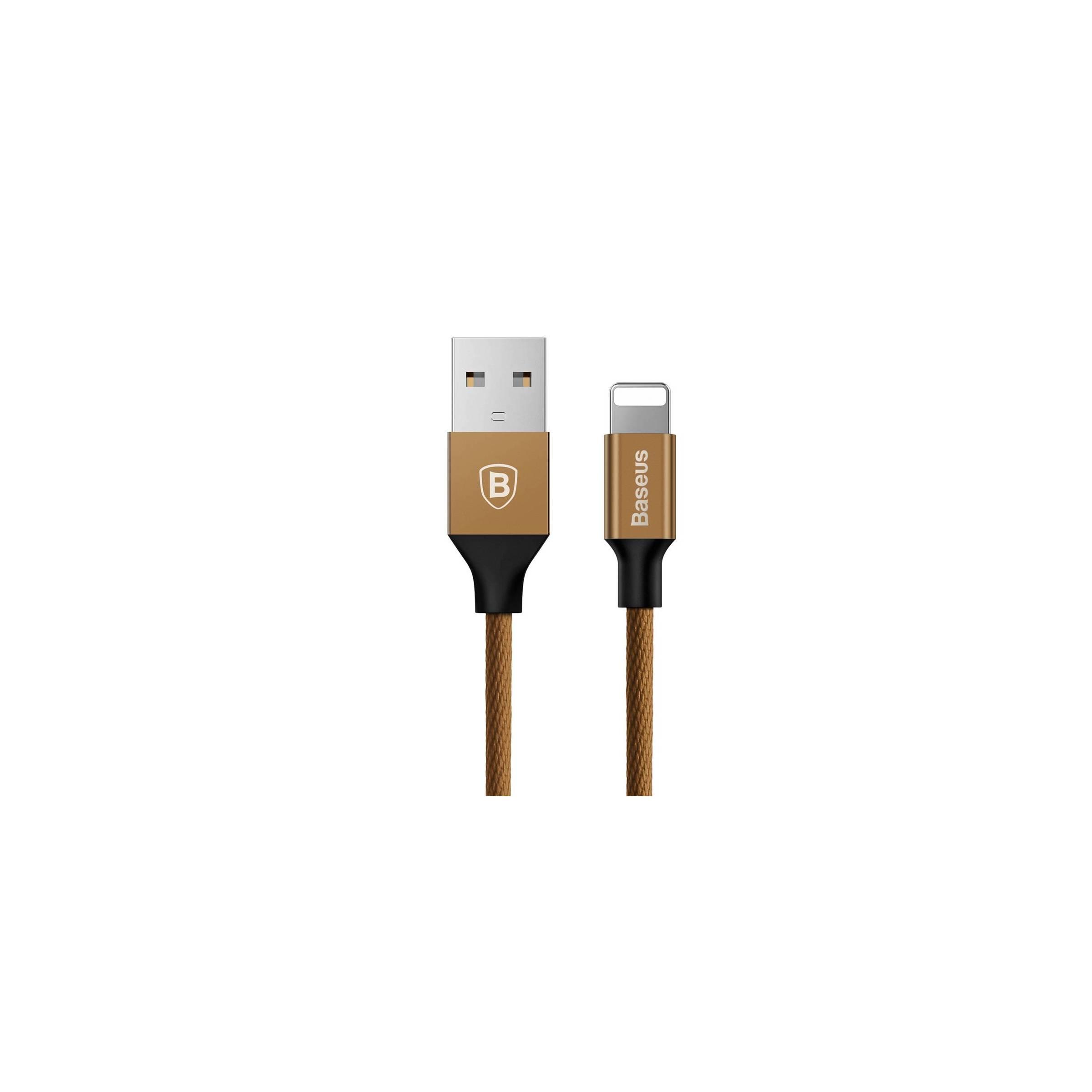 baseus Baseus vævet lightning kabel farve brun på mackabler.dk