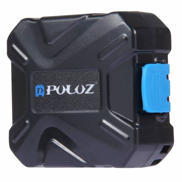 Puluz beskyttelsesboks til memory cards - Hårdfør beskyttelsesboks til alle dine dyrebare memory cards. Boksen er lavet i ABS materiale som er et ekstrem hårdfør materiale som kan tage både stød, støv og fugt og dermed potentielt redde dine SD kort. Den er lavet i et kompakt og letvægtigt materia