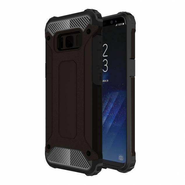 Hårdværkercover til Samsung Galaxy S8 plus - Dette cover kaldes for et håndværkercover da det er utroligt solidt og stødabsorberende. Det er et af de covers som virkelig kan redde din telefon da den er utrolig hårdfør. Coveret passer til en Samsung Galaxy S8 og har derfor lavet knapper i blød og stø