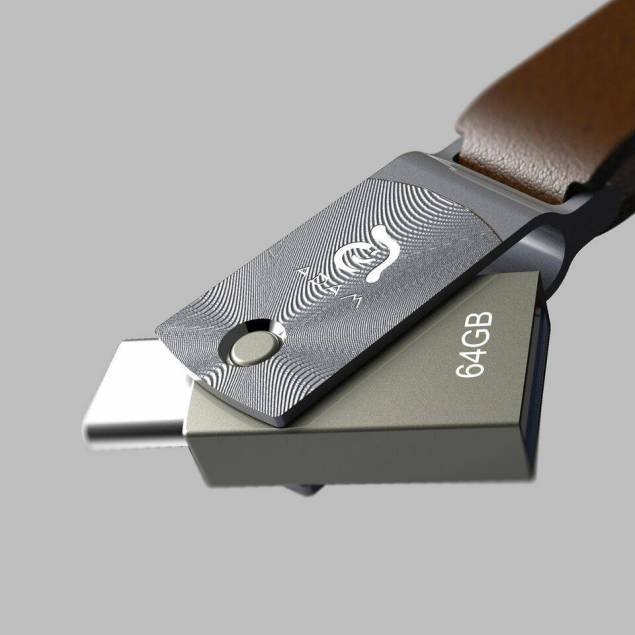 Image of   Adam Elements Roma 64GB USB-C / USB3 Grå/guld/roseguld