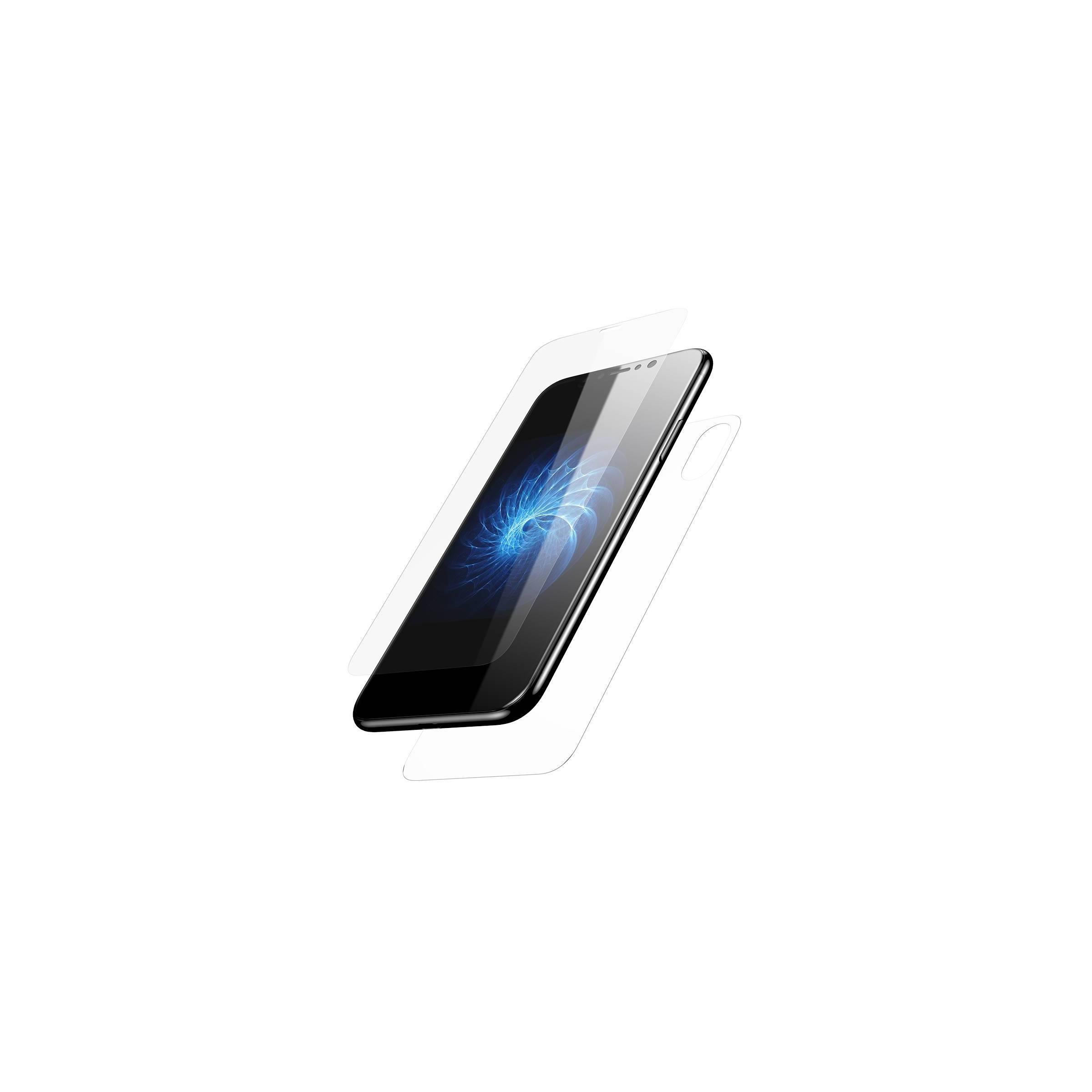 baseus Beskyttelsesglas til for- og bagside på iphone x/xs med kant fra mackabler.dk