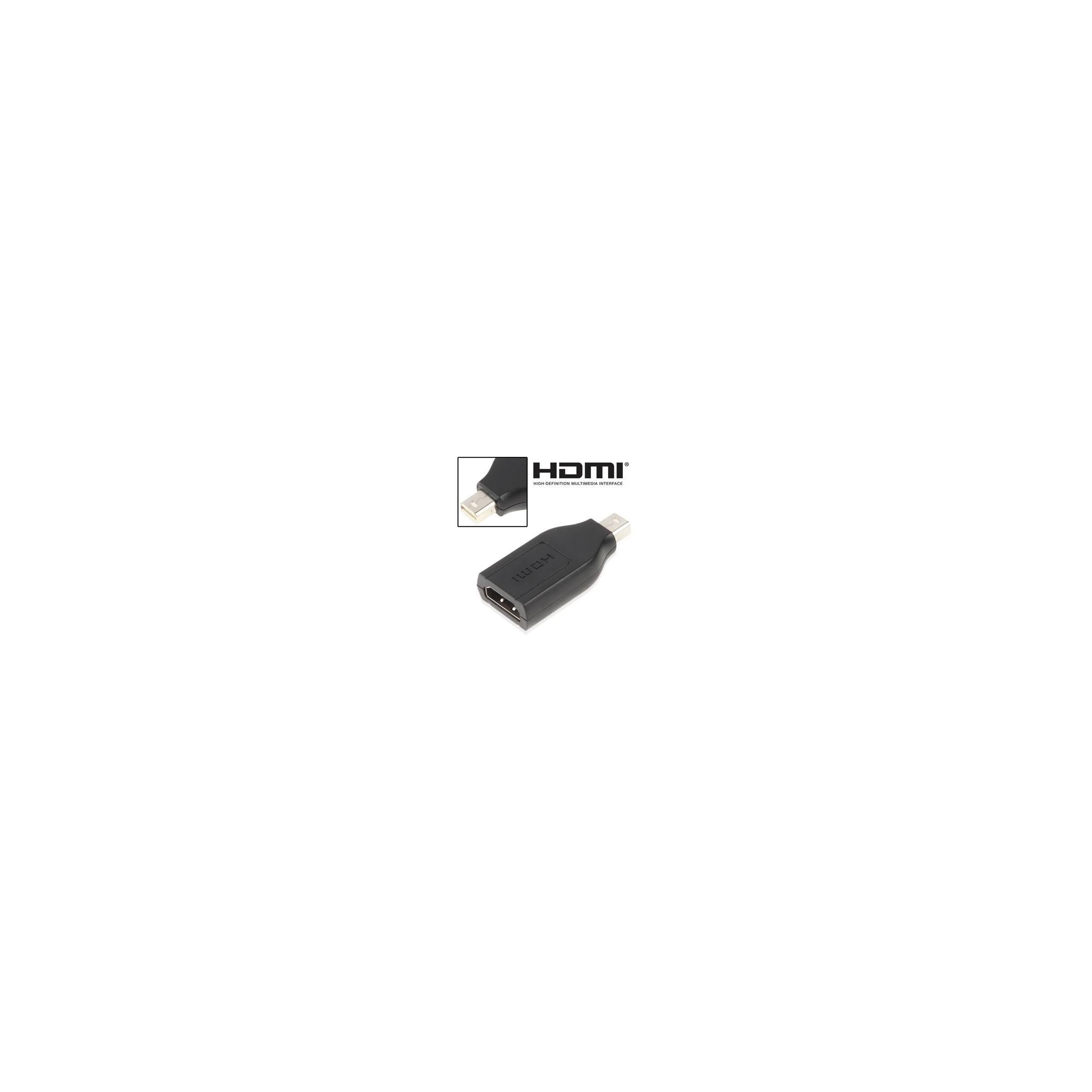 Meget lille hdmi til mini displayport adapter farve sort fra kina oem fra mackabler.dk