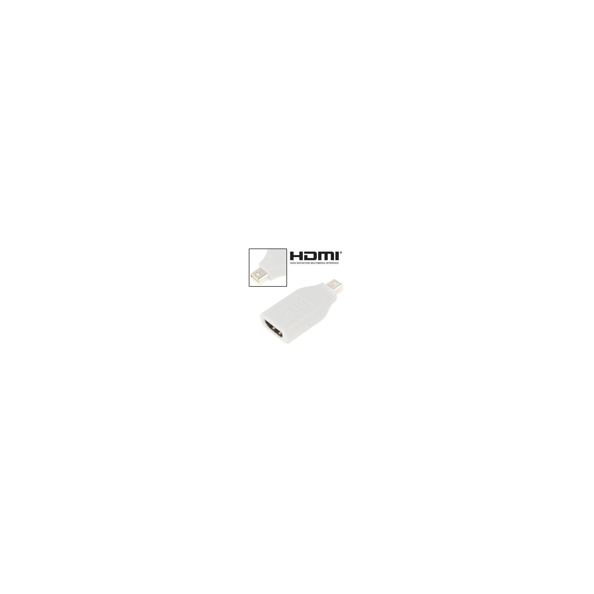 kina oem – Meget lille hdmi til mini displayport adapter farve hvid fra mackabler.dk