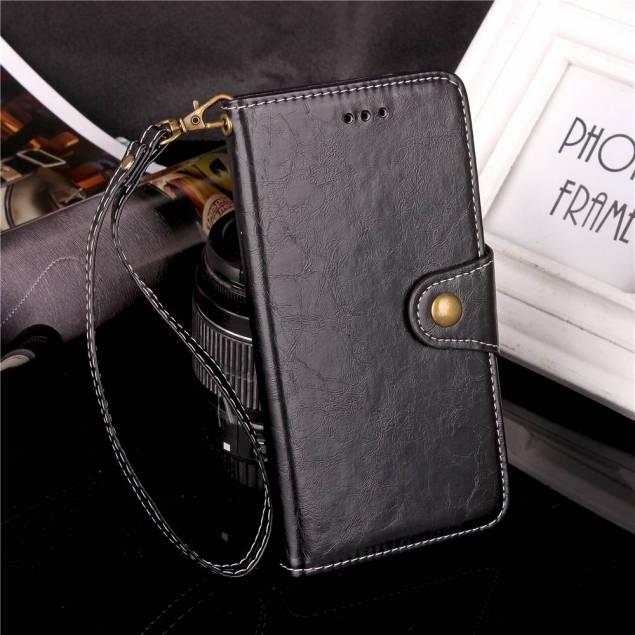 Image of   Kunst læder cover med kort plads til Galaxy Note 8