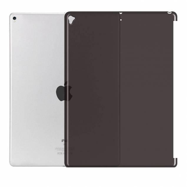"""iPad Pro 12,9"""" bag Cover med plads til smart connector tastatur - Farve - Gennemsigtig - iPad Pro 12,9"""" cover som er lavet til at passe sammen med fx et smart connector tastatur, Vi har det isort og andre farver med holder så du kan sætte din iPad op og beskytte den imod ridser, stød og tab. Coveret er enkelt og stilrent. Coveret er gennems"""