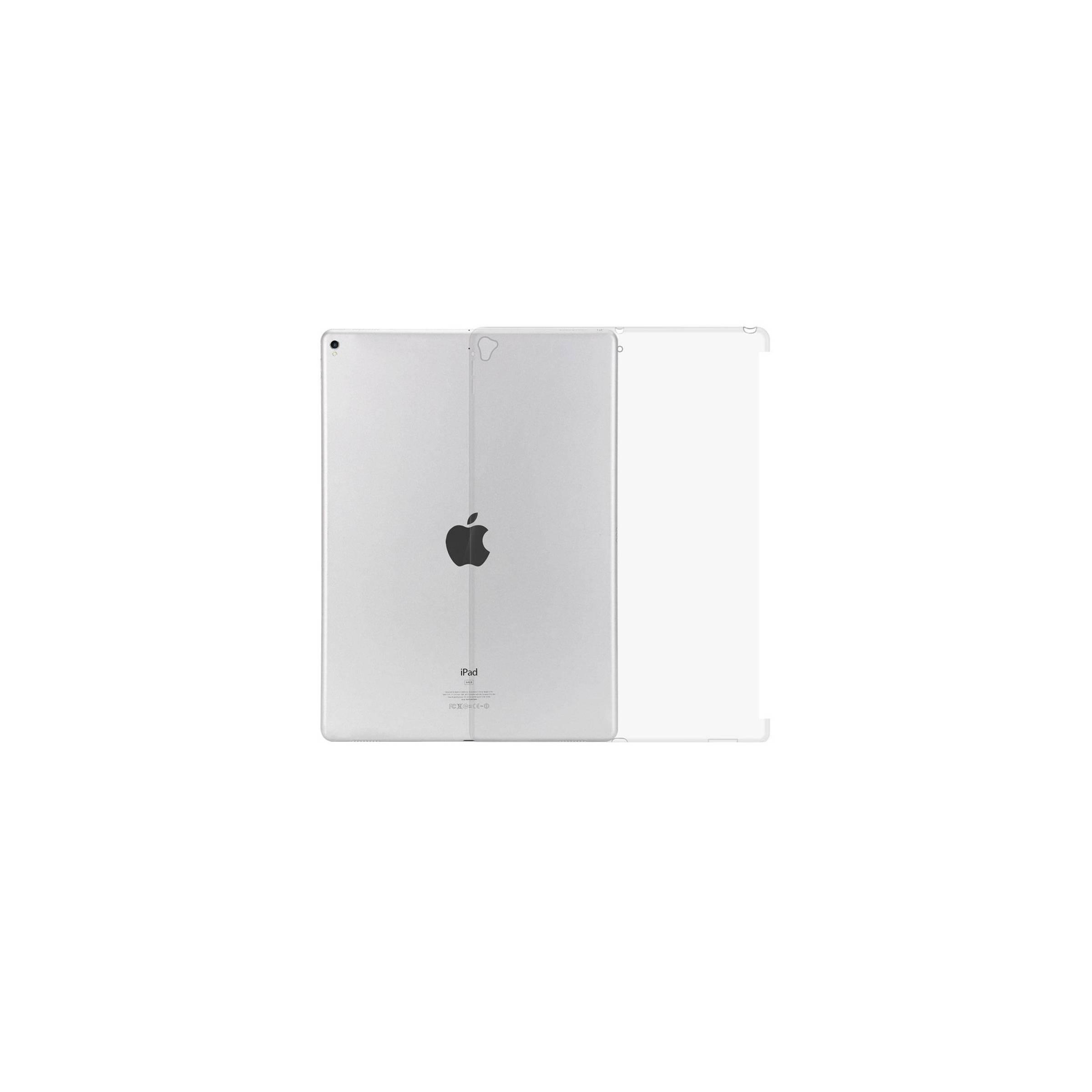 """Ipad pro 12,9"""" bag cover med plads til smart connector tastatur farve gennemsigtig fra kina oem på mackabler.dk"""