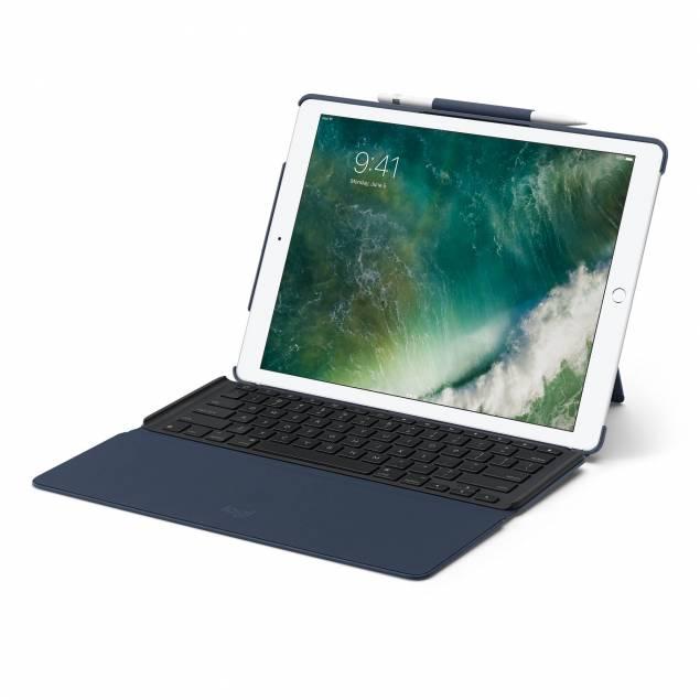 """Image of   Logitech Slim Combo med aftageligt tastatur til 12,9"""" iPad Pro - Farve - Sort"""