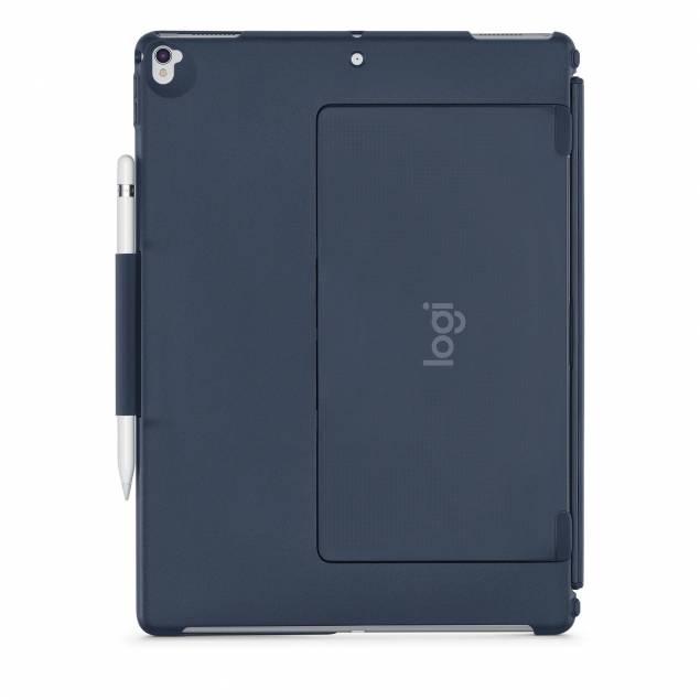 """Image of   Logitech Slim Combo med aftageligt tastatur til 12,9"""" iPad Pro - Farve - Blå"""