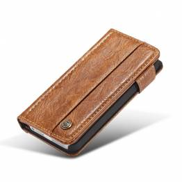 Image of   Fedt iPhone læder pung-cover sort/brun t. iPhone 5, 5s og se Farve Brun, iPhone iPhone 5/5s/SE