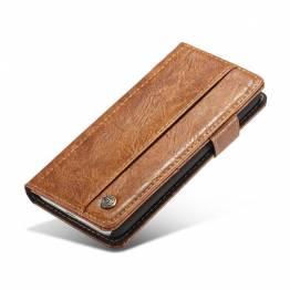 Image of   Fedt iPhone læder pung-cover sort/brun t. iPhone X/Xs Farve Brun, iPhone iPhone X (10) / Xs