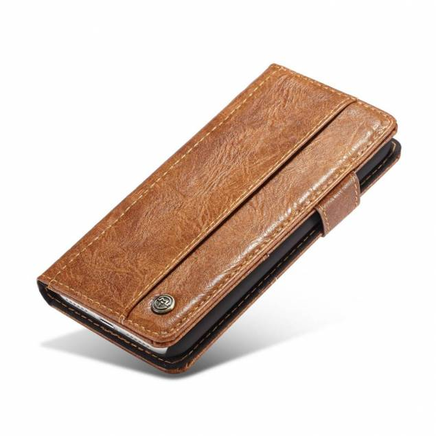 Fedt iPhone læder pung-cover sort/brun t. iPhone X