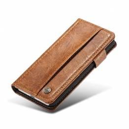 Image of   Fedt iPhone læder pung-cover sort/brun Farve Brun, iPhone iPhone 7 & iPhone 8 / iPhone SE 2020