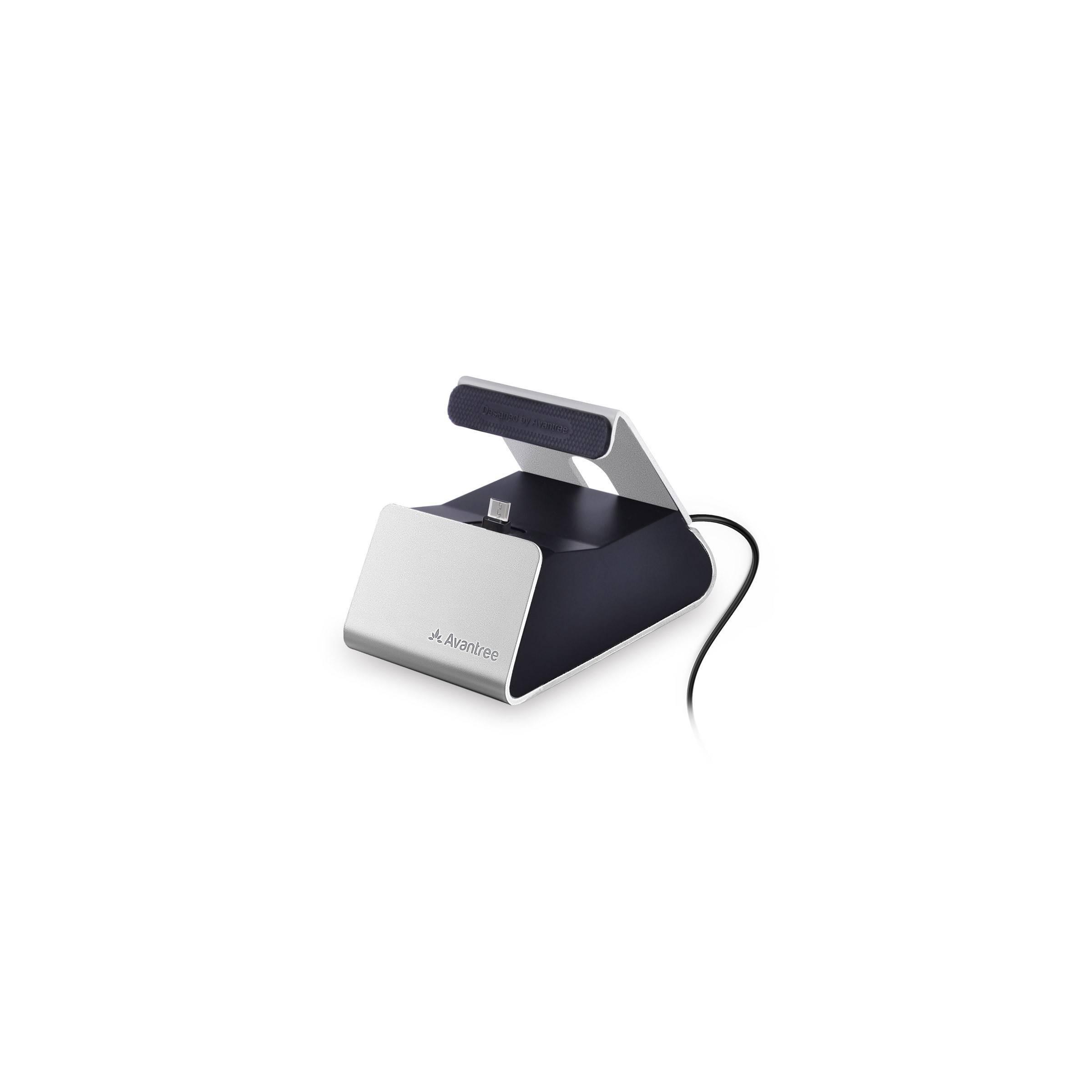 Avantree micro usb charge dock i sølv/sort fra avantree på mackabler.dk