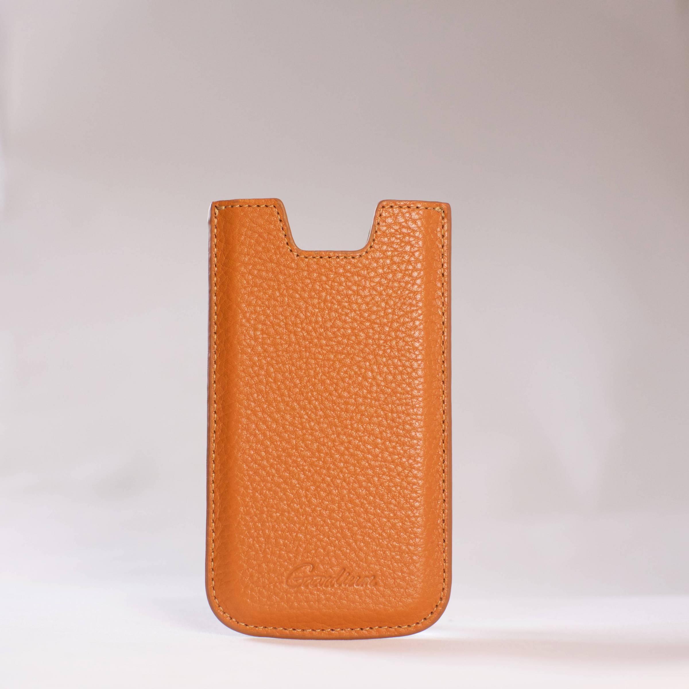 gaardium Gaardium sleeve iphone 5/5s/5c/se farve brun fra mackabler.dk