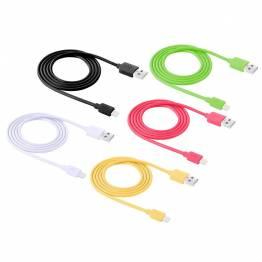 iPhone kabler i alle farver