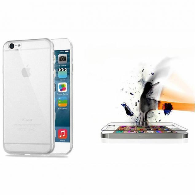 Silikone cover og beskyttelsesglas - iPhone - iPhone 7 & iPhone 8 - Beskyttelsesglas til iPhone i en pakke sammen med et iPhone cover, det er en perfekt gave til din nye iPhone.