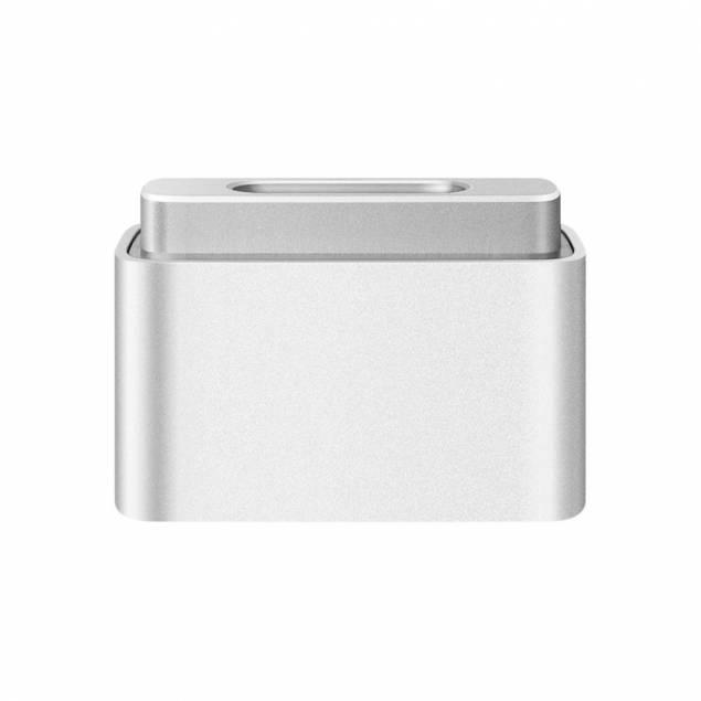 Original Apple MagSafe til MagSafe 2 Adapter - Adapteren er meget simpel, det er en originaleMagsafe 1 til Magsafe 2 adapter som laver et normalt magsafe 1(både L og T stikket) om et til Magsafe 2 stik. Hvis du er en af de mange som har en ekstra Magsafe oplader stående og godt kunne tænke dig at bru