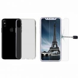 kina oem Iphone x/xs silikone cover og beskyttelsesglas ap5-pack 5c7c41ff91a04 på mackabler.dk
