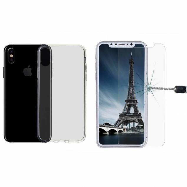 iPhone X/Xs silikone cover og beskyttelseglas - iPhone X silikone cover og beskyttelseglas giver dig den perfekte beskyttelse til iPhone X. Både iPhone cover og iPhone beskyttelsesglas har et diskret, men yderst sikkert design, hvilket gør at din iPhone X får suveræn beskyttelse, samtidigt med at du be