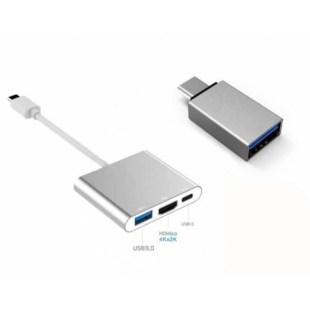 USB-C HDMI dock og USB-C til USB adapter - USB-C HDMI dock og USB-C til USB adapter er den perfekte pakke til tilslutning af enheder til din MacBook. Med bred funktionalitet og i en praktisk størrelse er både dock og adapter nemme at bruge samt lige til at have med dig rundt i lommen.