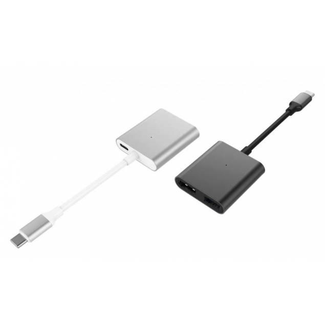 Hyperdrive 3-i-1 USB-C Hub med 4k HDMI - Farve - Space grey