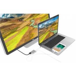 Image of   Hyperdrive 3-i-1 USB-C Hub med 4k HDMI Farve Sølv farve