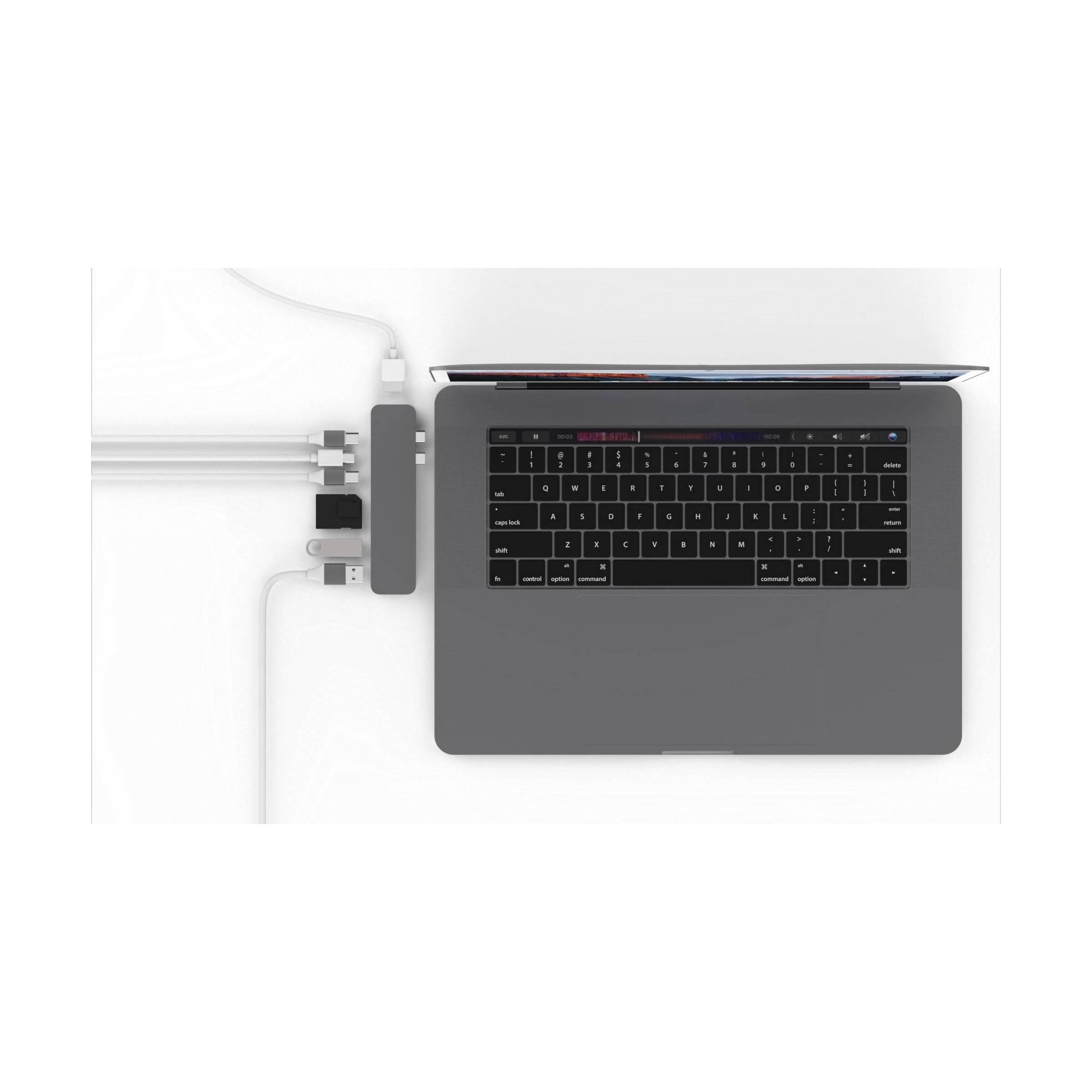 hyper by sanho corporation – Hyperdrive pro 8-i-2 hub for usb-c macbook pro 2016/2017/2018 farve space grey fra mackabler.dk