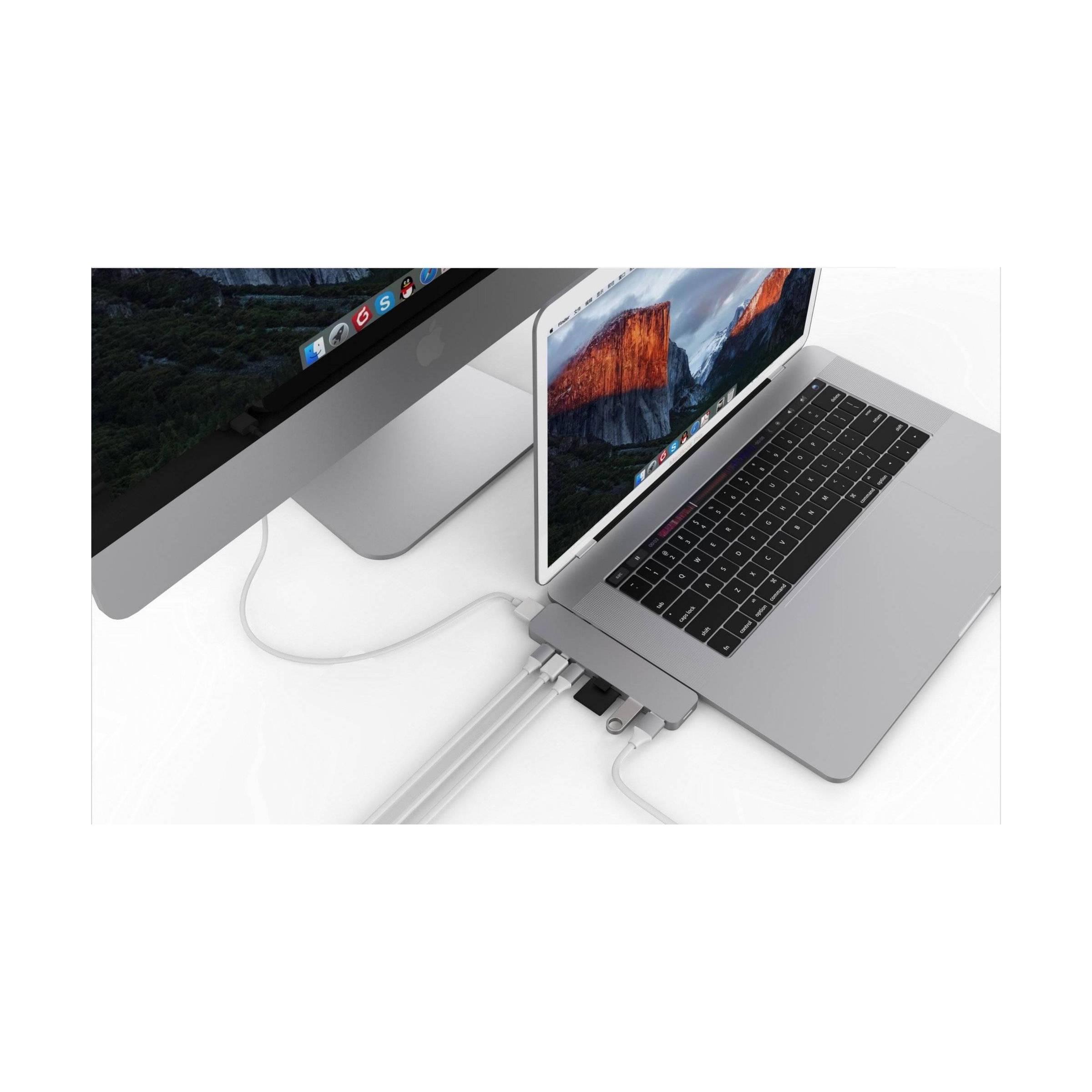 hyper by sanho corporation – Hyperdrive pro 8-i-2 hub for usb-c macbook pro 2016/2017/2018 farve sølv farve fra mackabler.dk