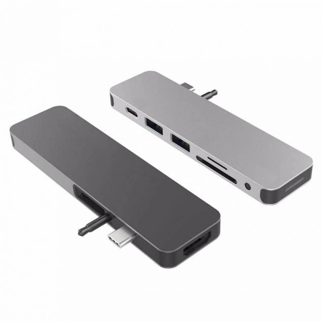 HyperDrive Solo hub til macbook og USB-C enheder 7-i-1 - Farve - Sølv farve
