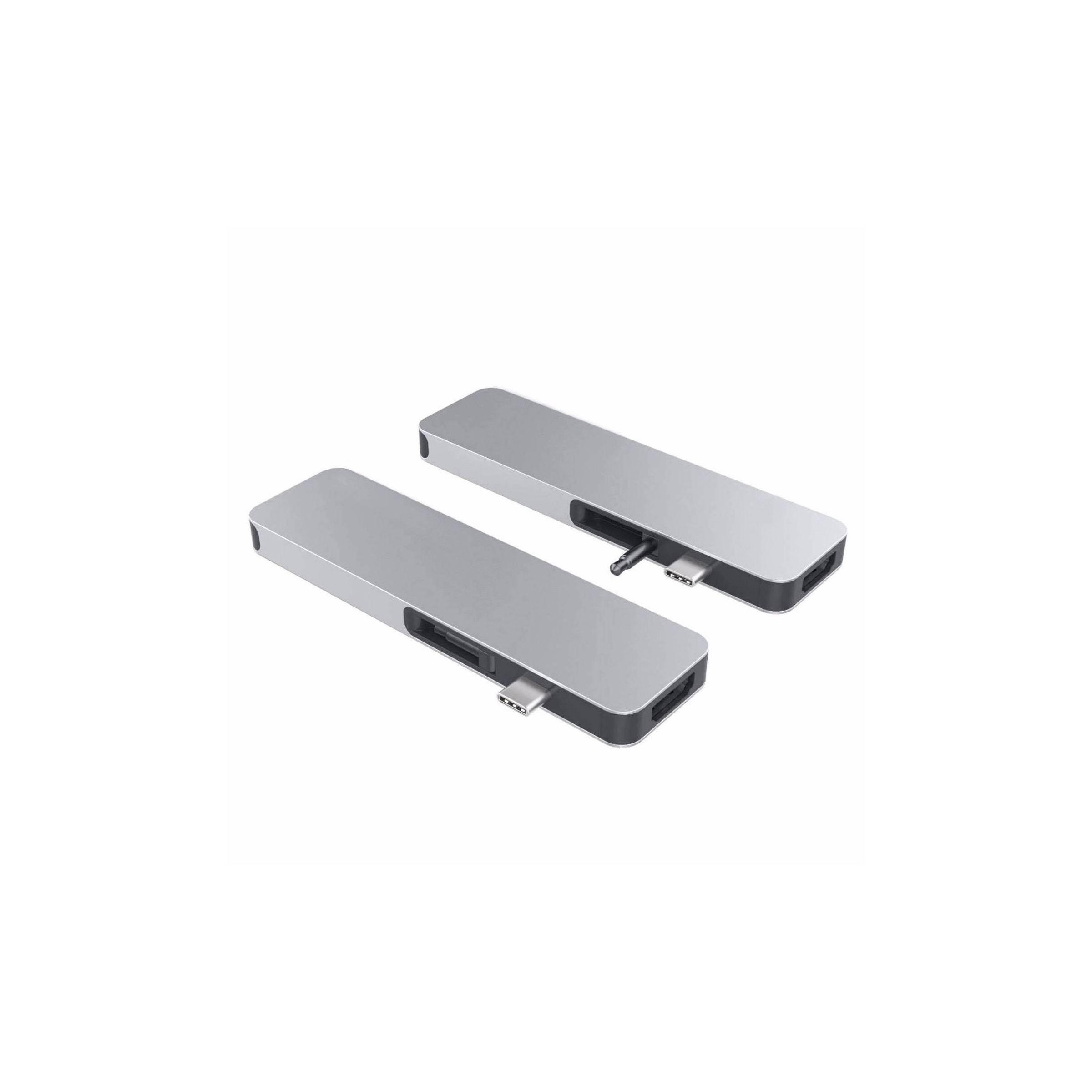 hyper by sanho corporation Hyperdrive solo hub til macbook og usb-c enheder 7-i-1 farve sølv farve på mackabler.dk
