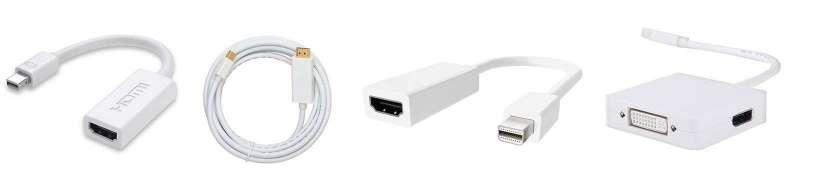Mini displayport (Thunderbolt) til HDMI adaptere og kabler