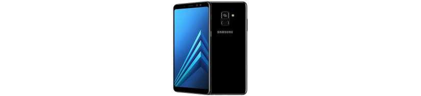Samsung Galaxy A8+ Tilbehør, Covers, Beskyttelsesglas, kabler, adaptere og Reperationsudstyr