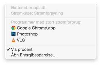 Få mere batteritid på din Mac