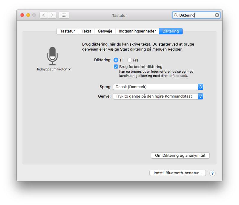 Hvordan bruger man Diktation på Mac/iPhone/iPad?