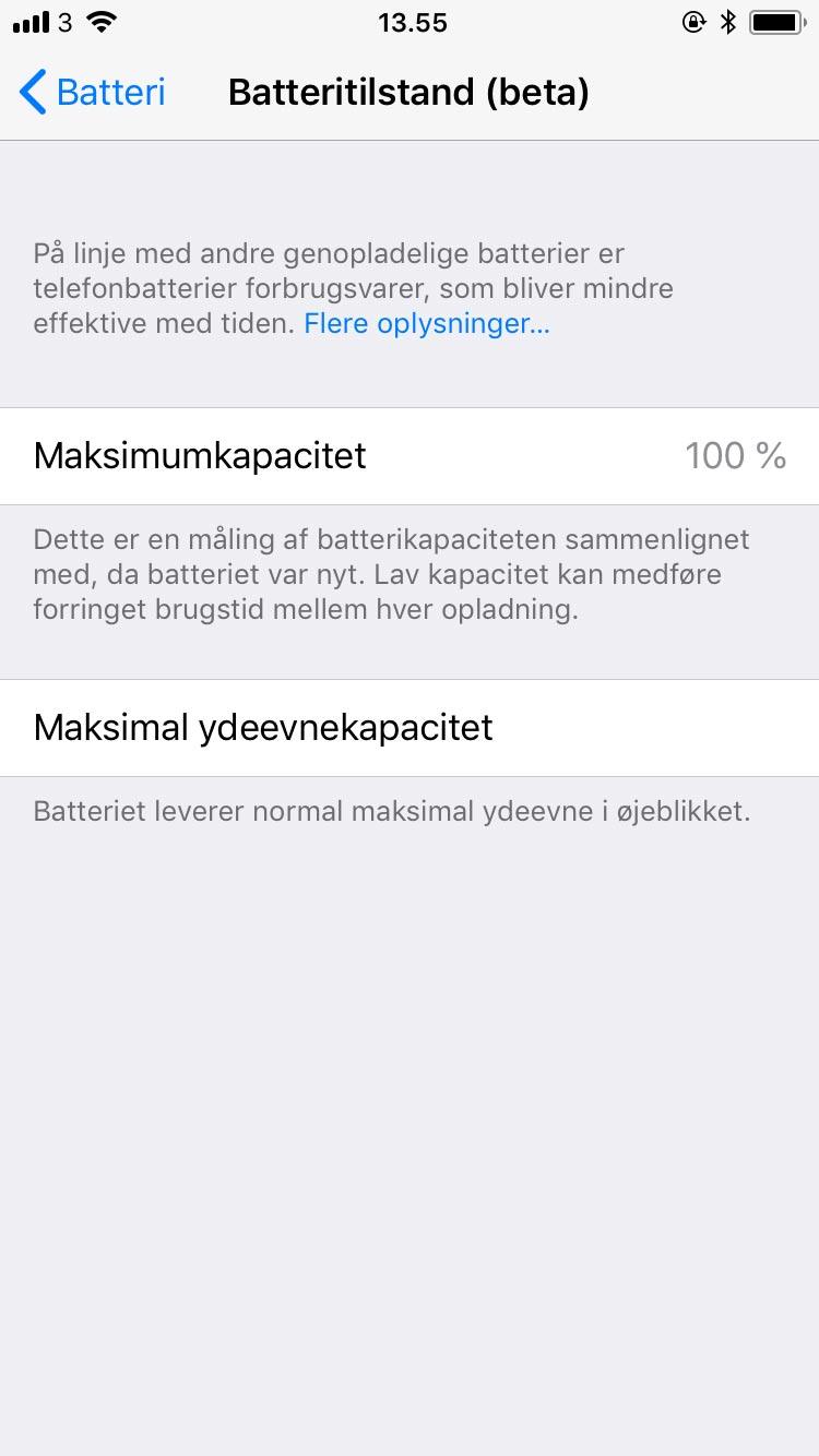 Få mere batteri på din iPhone