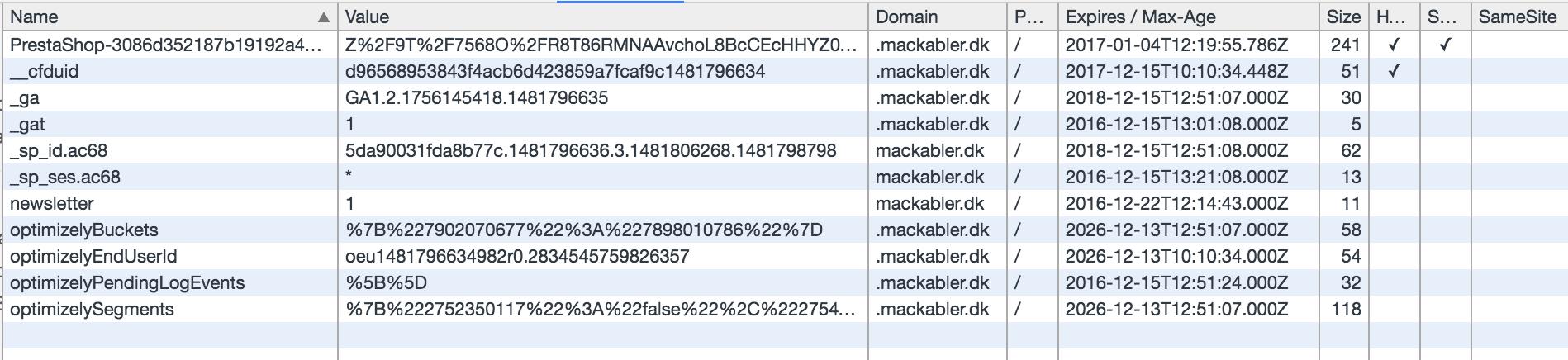 Beskyttelse af personlige oplysninger og cookies - Mackabler