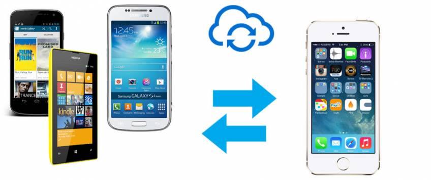overføre kontakter til iphone fra samsung